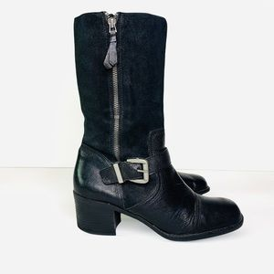 FRANCO SARTO COMBAT LEATHER BOOTS BOOTIES